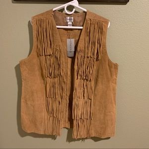 Chico's leather vest size 3x